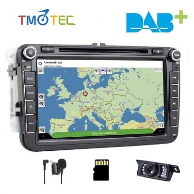 "For VW Golf V MK5 2003-2012 SKODA 8"" CAR DVD GPS SAT NAV Radio RDS Bluetooth 3G"