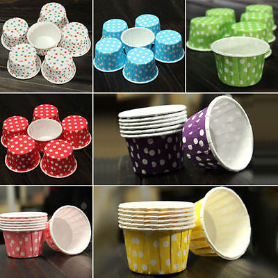 100pcs Paper Cake Cupcake Case Muffin Baking Cup For Christmas Wedding Party Hot