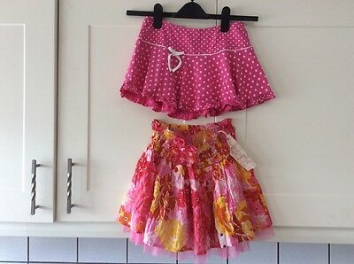 Girls new age 12-13  pink mix ra ra skirt  & pink spotted  skirts from new look