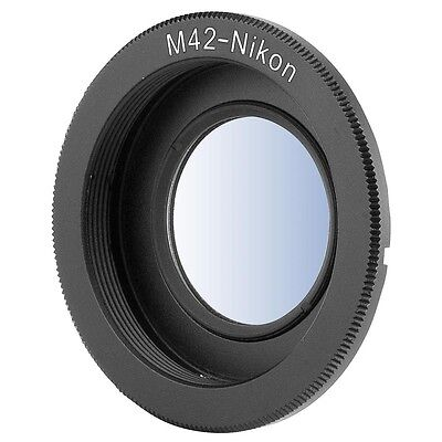 Adapter For M42 Lens to Nikon F Mount Camera D5200 D3200 Infinity w/ Glass DC305