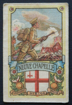 NEUVE CHAPELLE Battle Series issued MY WEEKLY in 1916 Silk descriptive backing
