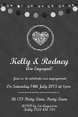Personalised Chalkboard Engagement Party Invitation – You Print