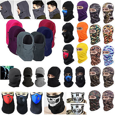 Be Motorcycle Motorbike Thermal Balaclava Ski Face Mask Under Helmet Neck Warmer