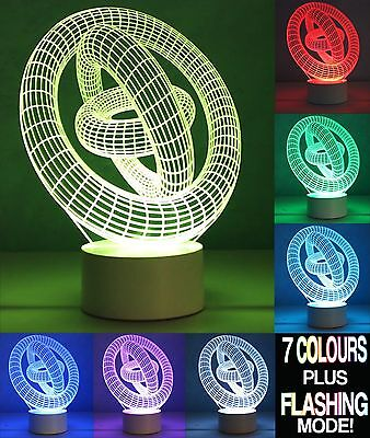 Optical Illusion 3D Lamp GYRO  *Colour Changing 7 Colours*