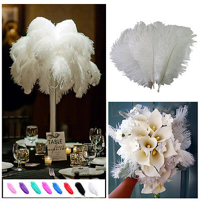 1~10pcs Wholesale High Quality Natural  Ostrich Feathers Wedding Party 15-30 cm
