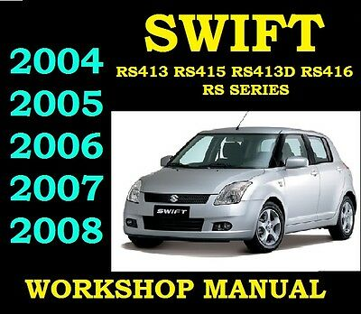 SUZUKI SWIFT 2004 To 2008 Service Workshop Repair Manual Wiring Part RS 1.3 5 6