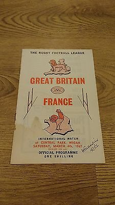 Great Britain v France 1967 Rugby League Programme