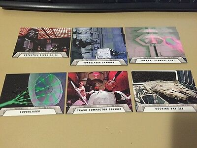 Star Wars -Rogue One Mission Briefing - Death Star Chase Card LOT of 8 - 2016 NM