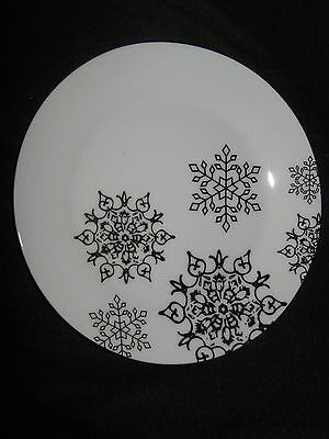 Ciroa Luxe Fine Porcelain Gold Snowflakes Christmas Salad Plates - Set Of 4 -New