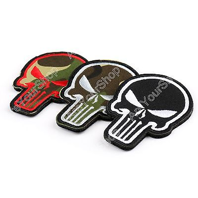 Punisher Skull Patches Usa Army Morale Tactical Insignia Bordada Patch Loop BS6