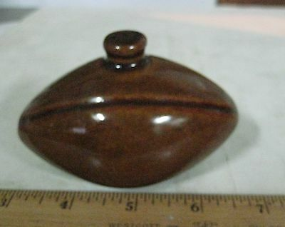 Uhl Pottery Football, Anout 3.75 Inches In Length