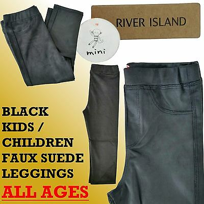River Island Mini Leggings Black Faux Suede Ages From 0 Months To 5yrs Old