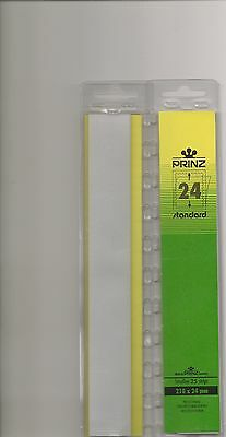 PRINZ STAMP MOUNTS CLEAR 24 mm STRIPS x25 IN PACK