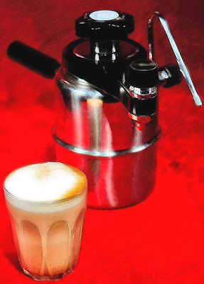 Stovetop CX-25 BELLMAN StoveTop Coffee Machine Maker w/ Milk Frother Brand NEW