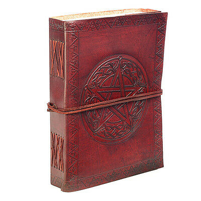 Fair Trade Handmade Indra Celtic Star Leather Journal Notebook Diary 2nd Quality