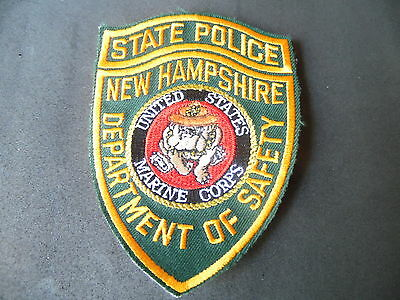 New Hampshire State Police US Marine novelty patch USMC