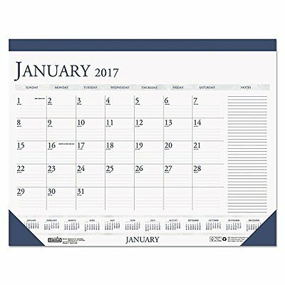 House of Doolittle 2017 Monthly Desk Pad Calendar, Classic with Notes Se...