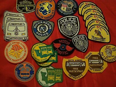 30 piece great Police & other patches mixed lot Canada, US