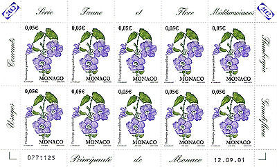 Feuille Entiere Timbres Monaco - N° 2321.