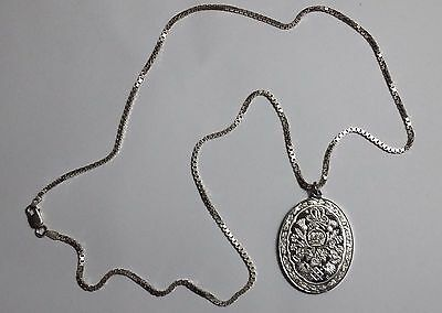 Franklin Mint Sterling Prince Charles & Lady Diana Wedding Pendant & Necklace