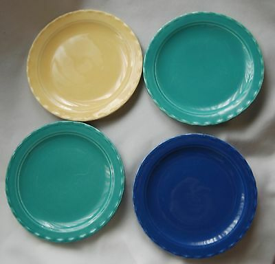 "California Pottery 6"" Pastel Bread & Butter Plate yellow green blue"