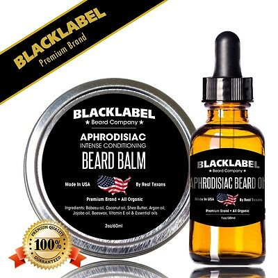 Aphrodisiac Beard Oil & Balm Set
