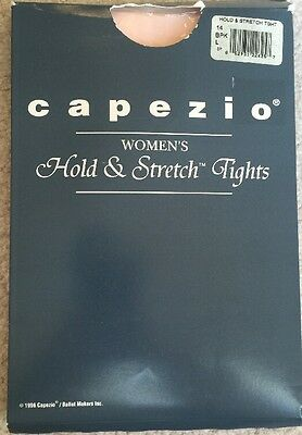 Capezio 14 Women's Size L Pink Hold and Stretch Footed Tights
