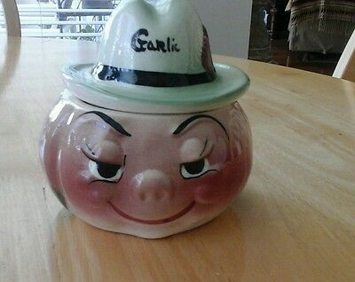 anthropomorphic deforest Garlic jar