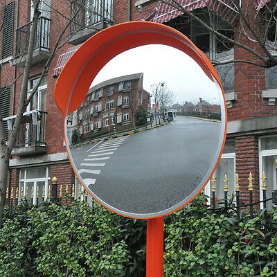 Wide Angle Security Curved Convex Road PC Mirror 60cm Traffic Driveway Safety