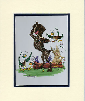 Mini Print German Shorthaired Pointer by Mike McCartney