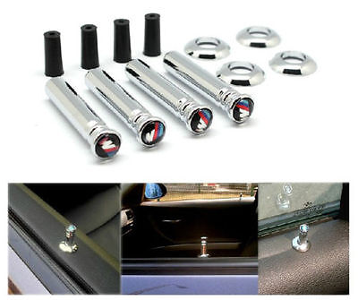 BMW M SPORT CHROME DOOR PINS,SET OF 4,FIT 1,3,5 series X1,X3,X5,X6,E32,E81,E93