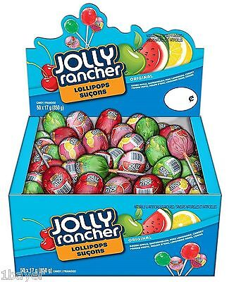 Jolly Rancher Assorted Kid Children Child Lollipops Dessert Candy Box (50pc)