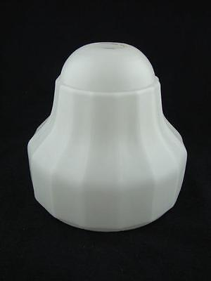 Early 20Th C White Satin Moulded Glass Wall Light / Lamp Shade 2.9Cm Fitter