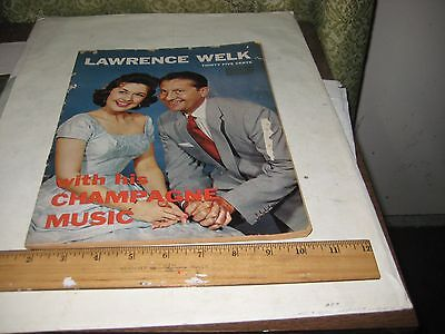 Lawrence Welk With His Champage Music, Welk & Alice Lon Cover, Copyright 19
