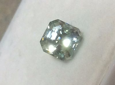 2.24 ct 7.08 X 7/08 BLUE VVS1 LOOSE EMERALD CUT REAL MOISSANITE TESTED US SELLER