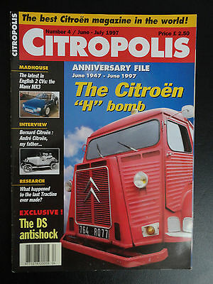 CITROPOLIS MAGAZINE CITROEN 2CV EDITION NUMBER 4 - Jun / Jul 1997