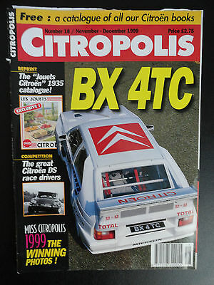 CITROPOLIS MAGAZINE CITROEN 2CV EDITION NUMBER 18 - Nov / Dec 1999