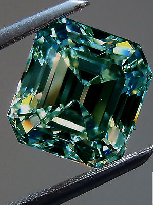2.80ct X 7.09 BLUE VVS1 LOOSE EMERALD CUT REAL MOISSANITE TESTED US SELLER