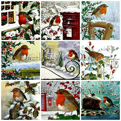 18 Christmas Robins Ideal for Toppers, Embellishments, Card Making, Crafting