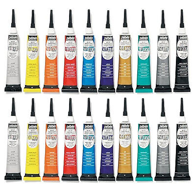 Pebeo Vitrea 160 Glass & Metal Paint Transparent Gloss Relief Paste Outliner