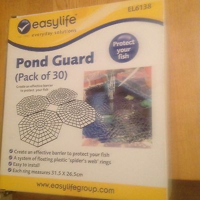 Protect Fish with Easylife Pond Guards,pk 30,each ring measures 31.5 x 26.5 cms