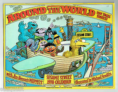 1978 Sesame Street Calendar Around the World in 365 Days Muppets Art M. Smollin