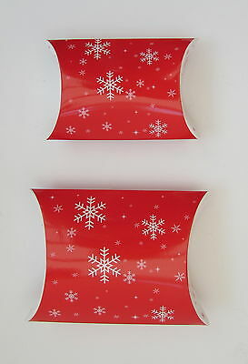 Christmas gift boxes 12 pack card mini small pillow pack pouch snowflake red