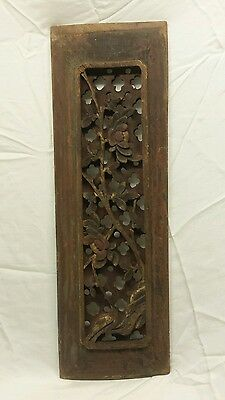 Antique chinese wood carving panel