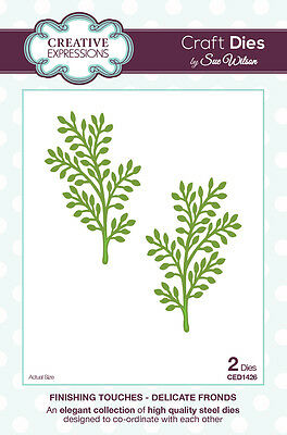 Creative Expressions FINISHING TOUCHES Delicate Fronds CED1426 by Sue Wilson