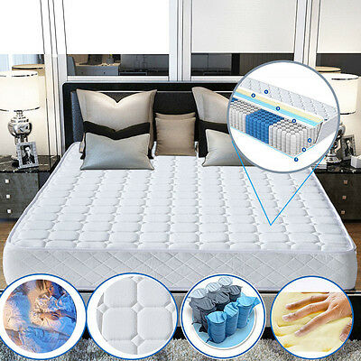NEW Memory Matress New Quilted Sprung Mattress 3ft Single 4ft6 Double 5ft King