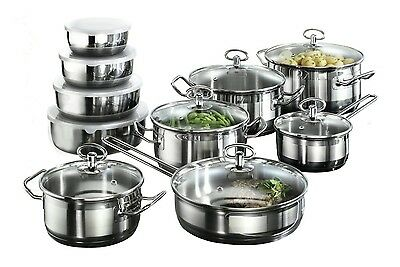 Karcher Jasmin 121008 20-Piece Cookware Set with Roasting Pot and 4 Bowls Stainl