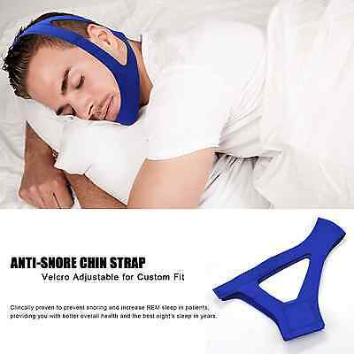 Anti-Snoring Chin Strap, Easily Adjustable Sleep Snore Aids Stopper Mouthpiece N