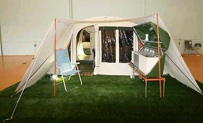 Holtkamper Astro XLAir trailer tent with kids tent, awning extension and kitchen