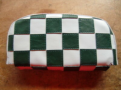 Dark Green/ White Check Scooter Back Rest Cover (Purse Style)